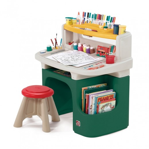 Step2 Art Master Activity Desk - Green - delivered by Shahaleel Within 2 Working Days