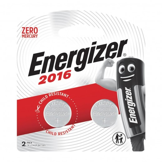 Energizer coin Battery 2016 - 2 PIECES