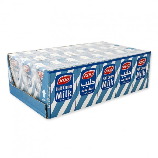KDD Half Cream Milk Carton 24 x 250 ml