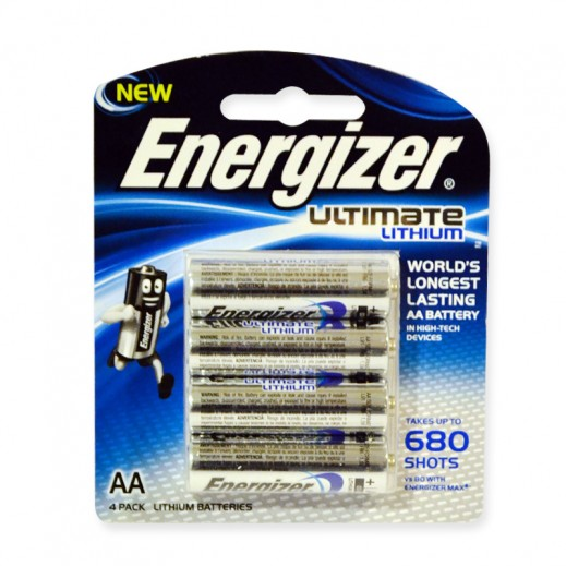 Energizer Ultimate Lithium AA Battery 4 Pack