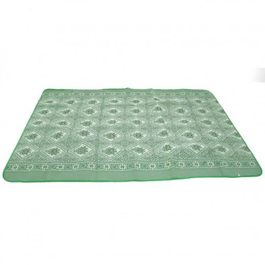 Dunia Chinese Jacquard Silk Mat (200 x 300 cm) Green