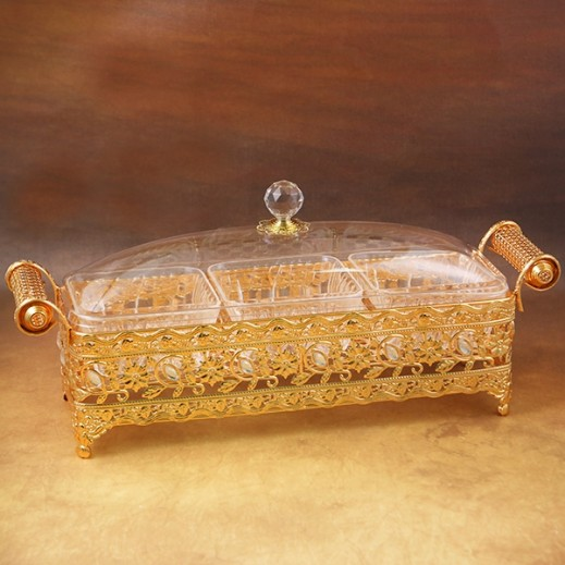Acrylic Vogue Sweet Box Golden - Medium