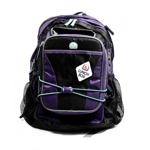 Igloo Fuelpack Extreme School Bag (M) 2 Pieces SetBlack_Purple