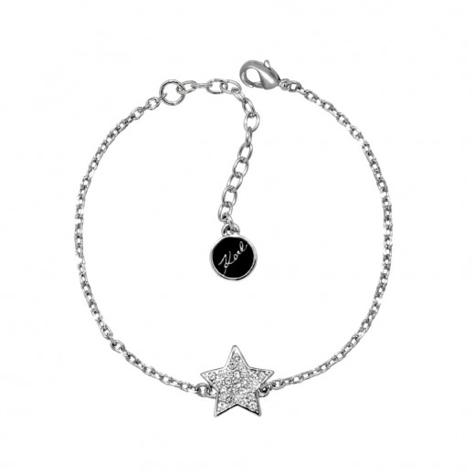 Karl Lagerfeld Star Silver Crystal Bracelet - delivered by Beidoun after 3 Working Days