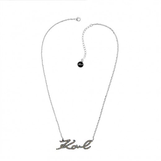 Karl Lagerfeld Karl Silver Necklace - delivered by Beidoun after 3 Working Days