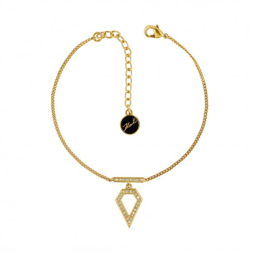 Karl Lagerfeld Open Diamond Crystal Gold Bracelet - delivered by Beidoun after 3 Working Days