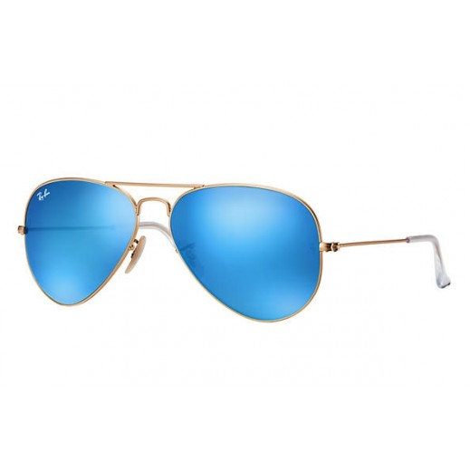 Ray-Ban Aviator Blue Flash Unisex Sunglasses - 58 mm - delivered by Waleed Optics