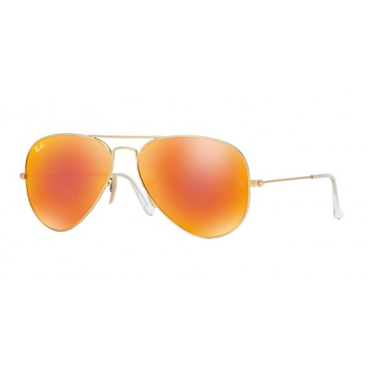 Ray-Ban Aviator Orange Flash Unisex Sunglasses - 55 mm - delivered by Waleed Optics