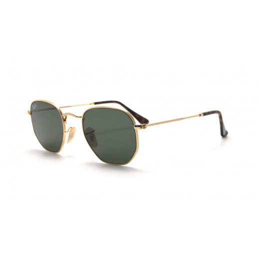 Ray-Ban Hexagonal Flat Lense Classic Green Unisex Sunglasses - 54 mm - delivered by Waleed Optics