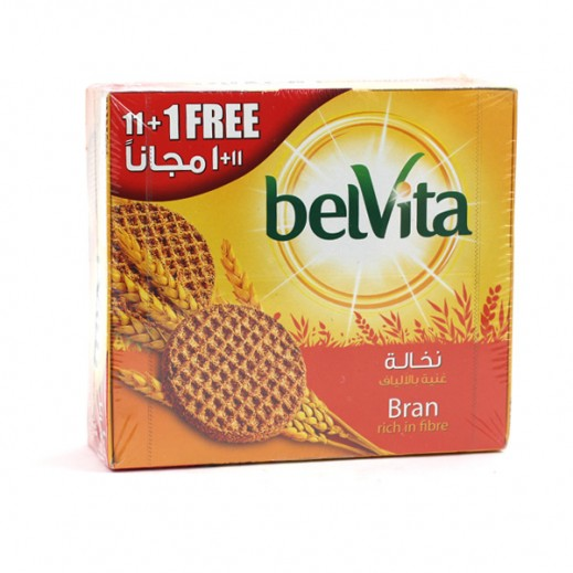 Belvita Bran Biscuits 62g (11+1 Free)