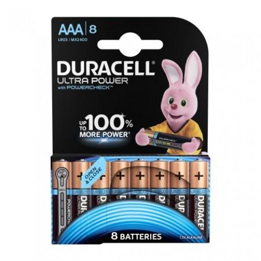Duracell Ultra Alkaline AAA Batteries 1.5V Monet 100% - 8Pcs