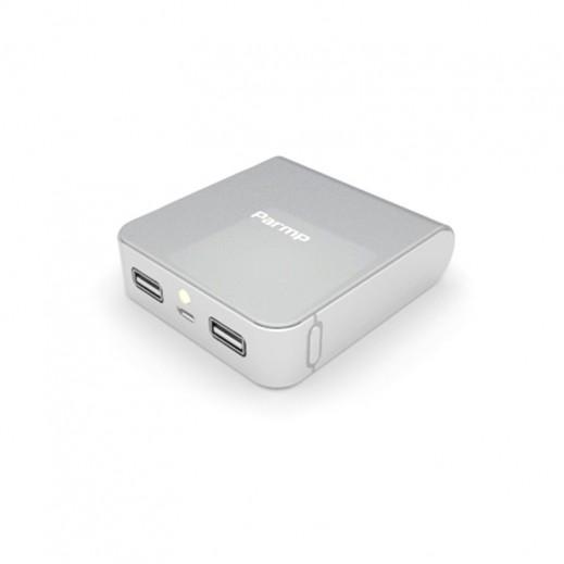 Parmp Magic Power Bank 10000mAh Aluminium Frame- White
