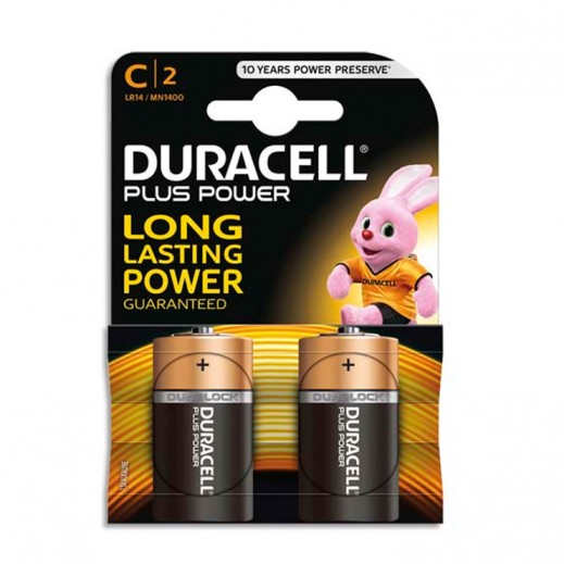 Duracell Alkaline C Size Battery 2 Pack