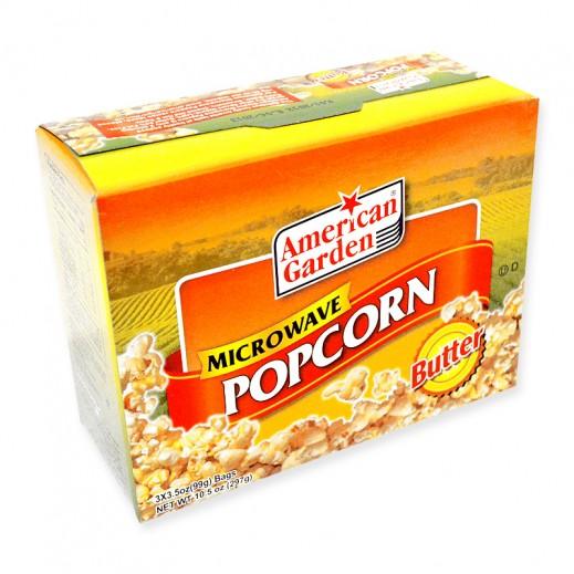 American Garden Microwave Popcorn Butter 273 g