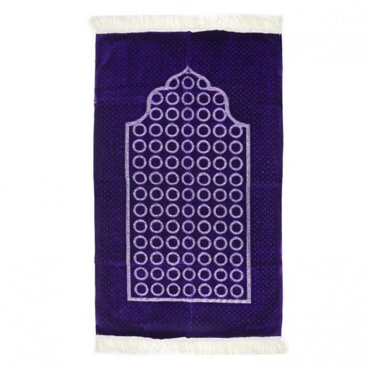 Prayer Mat with Circle Design - Violet