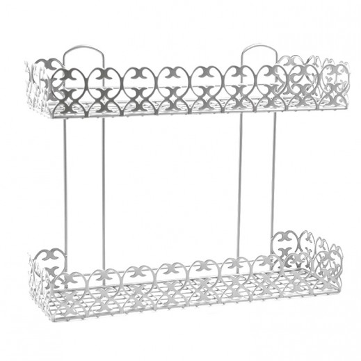 Metaltex 2-Tier Rectangular Shelf (Italy)