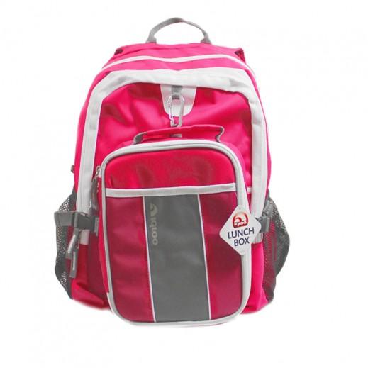 Igloo Fuelpack School Bag (M) 2 Pieces Set Pink_White