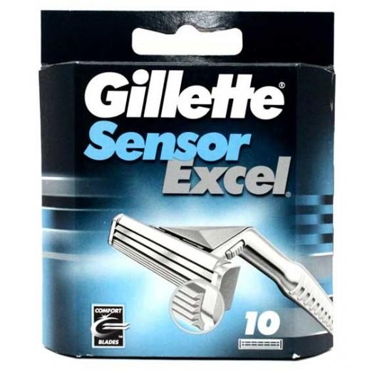 Gillette Sensor Excel Blade 10 pieces