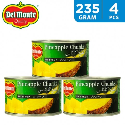 Wholesale - Delmonte Pineapple Chunks In Syrup 4 x 235 g