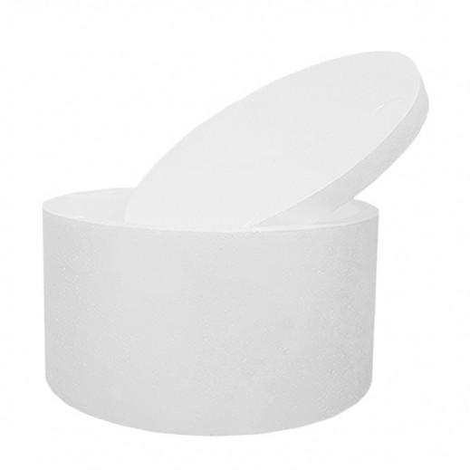 Kuwait Polymer Round Styrofoam Ice Box 34.5 x 19 cm