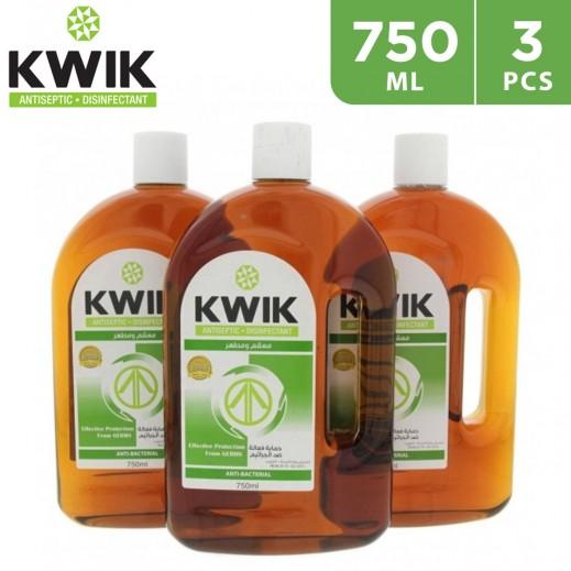 Kwik Antiseptic Disinfectant 3 X 750 ml