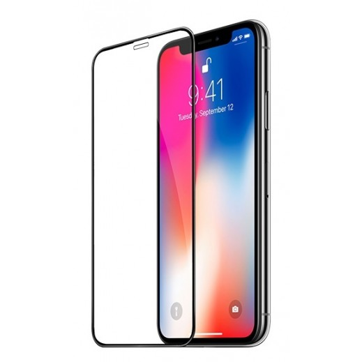 Hoco Fast Attach 3D Glass Screen Protector for iPhone X - Black