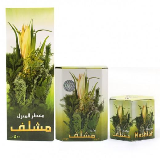 Bundle Set Of 3 ( Mashlaf House Freshener 500 ml + Mashlaf Mamol 70 g + Mashlaf Bakhoor 50 g)