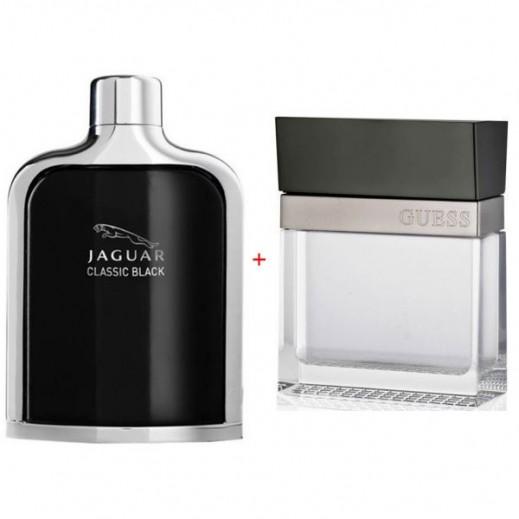 Bundle Of 2 For Him Jaguar Classic Black EDT 100 ml + Guess Seductive For Him EDT 100 ml