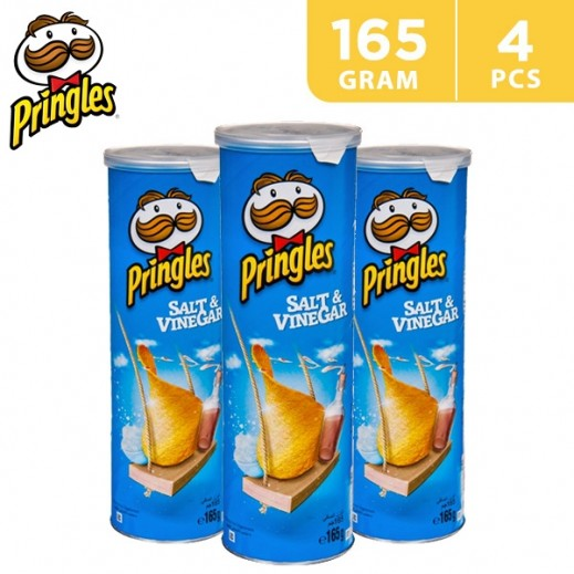 Value Pack - Pringles Salt & Vinegar Potato Chips 4x165 g