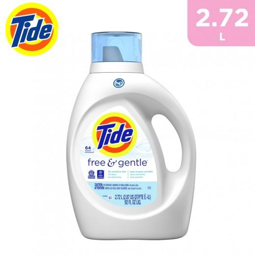 Tide Free & Gentle Liquid Detergent 2.72 L