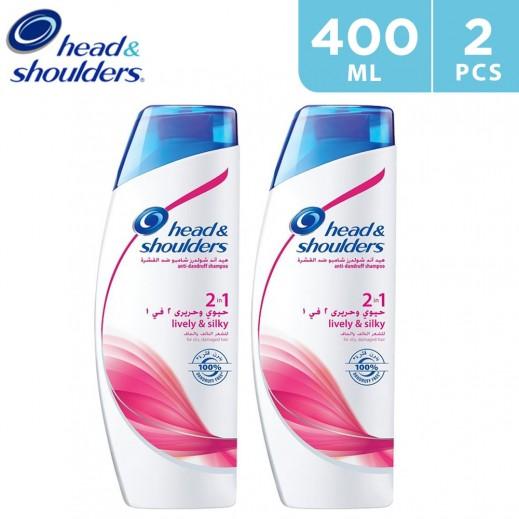 Head & Shoulders Smooth and Silky Anti-Dandruff Shampoo 2 x 400 ml