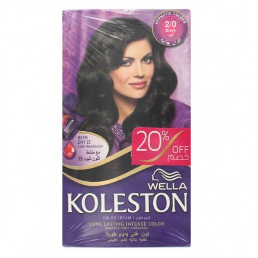 Koleston Kit Dual Pack Hair Colour Crème Black 2/0 (20% off) Prom