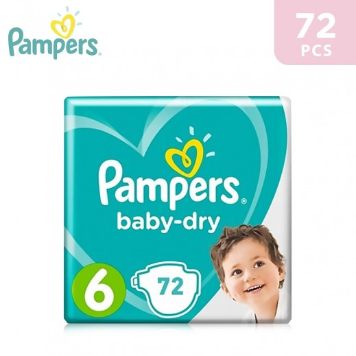 Pampers Stage 6 (13+ Kg) XXL Mega Box 72 Pieces