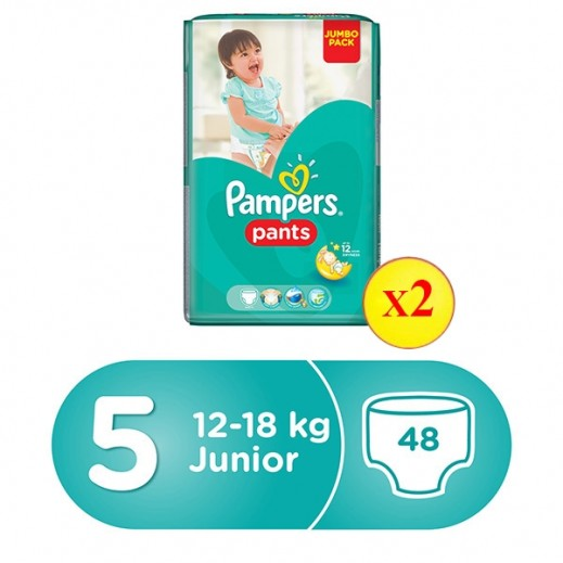 Pampers Pants Stage 5 Junior (12-18 kg) Jumbo Pack 2 x 48 Pieces