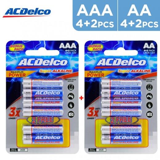 AC Delco Alkaline AA 1.5V Pack (6 PCS) + AAA 1.5V Pack  (6 PCS)