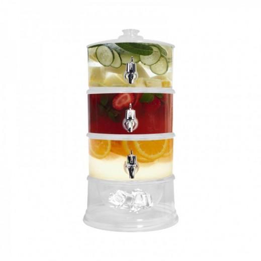 Acrylic 3 Compartment Beverage Dispenser 9 ltr