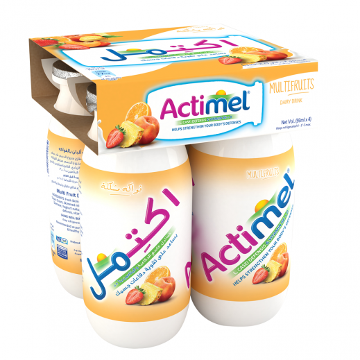 Actimel Multi Fruit Drink 4x93 ml
