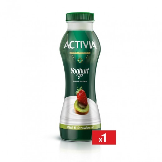 Activia Yoghurt go Kiwi & Strawberry 280 ml