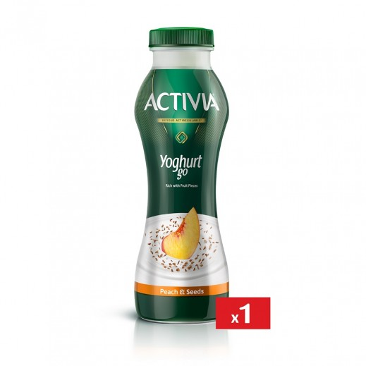 Activia Yoghurt go Peach & Seeds 280 ml