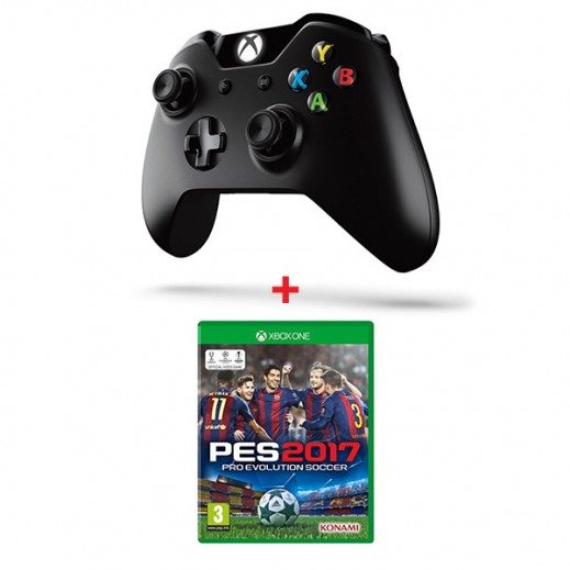 Pro Evolution Soccer 2017 for Xbox One - PAL (Arabic) + Xbox One Controller