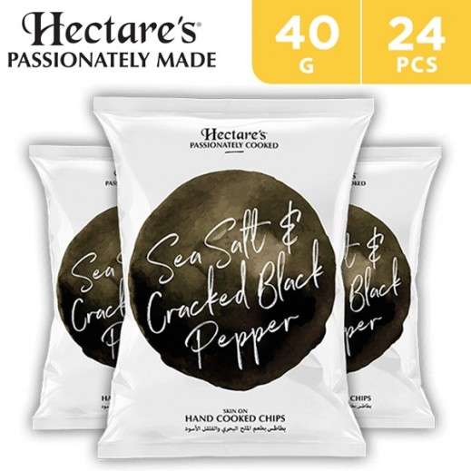 Hectare's Potato Chips Sea Salt & Cracked Black Pepper 24 x 40 g