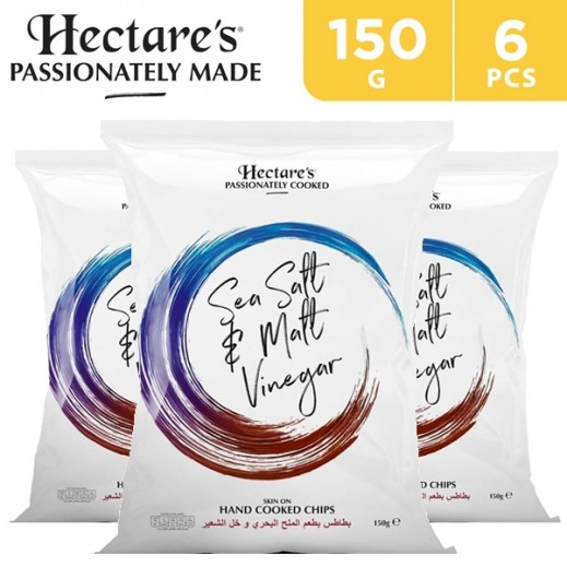 Hectare's Potato Chips Sea Salt & Malt Vinegar 6 x 150 g