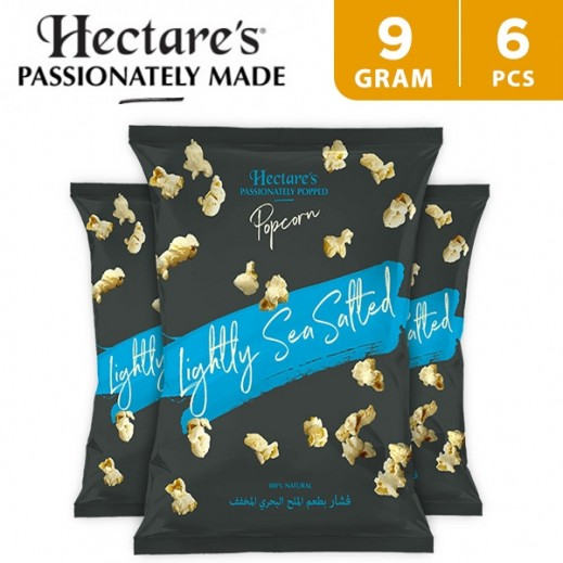 Hectare's Popcorn Lightly Sea Salt 6 x 9 g