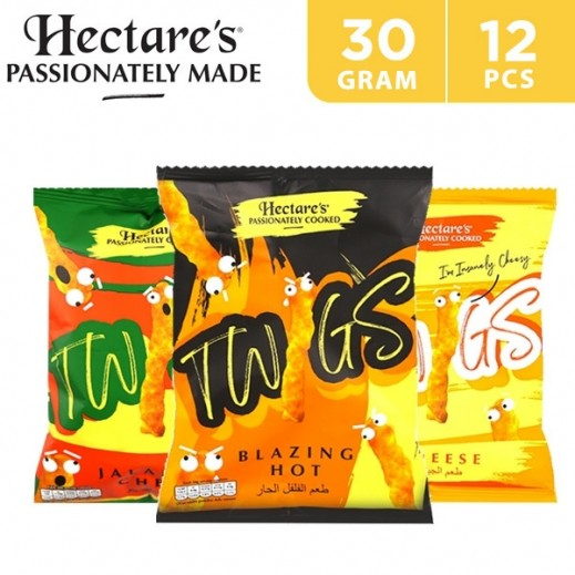 Hectare's Gluten Free Twigs Mix Flavored Corn Snacks 12 x 30 g