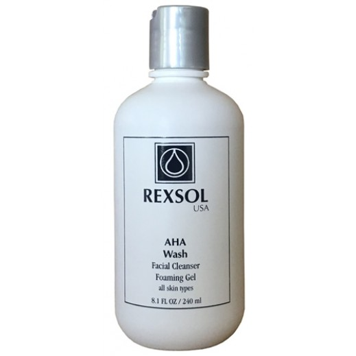Rexsol USA AHA Wash Facial Cleanser Foaming Gel 240 ml