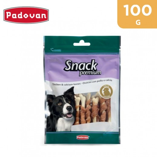 Padovan Premium Dog Snack With Chicken & Calcium Bones 100 g