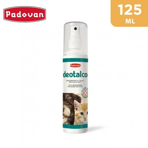 Padovan Deotalco Talc Deodorizer with Antibacterial Agent for Dogs and Cats 125 ml