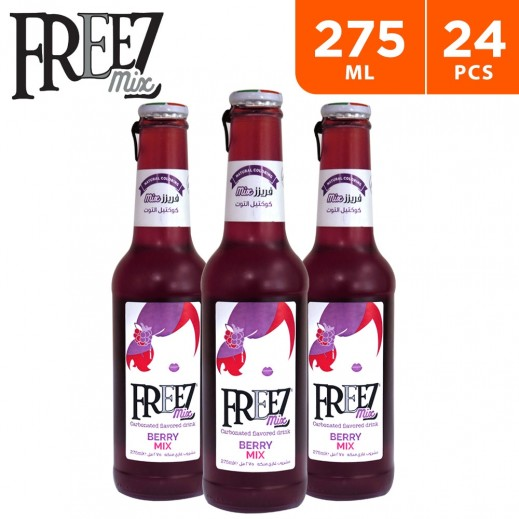 Freez Mix Carbonated Berry Mix Flavored Drink (24 x 275 ml)