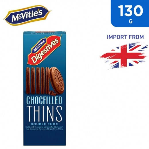 McVities Chocfilled Thins Double Choc 130 g