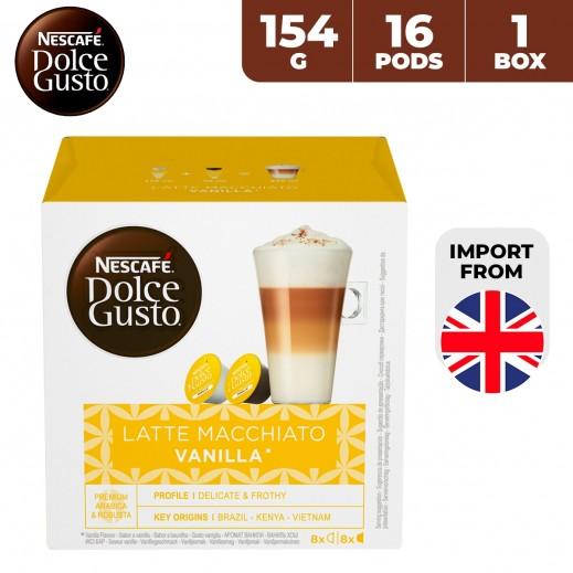 Nescafe Dolce Gusto Latte Macchiato Vanilla 154 g (16 Capsules)
